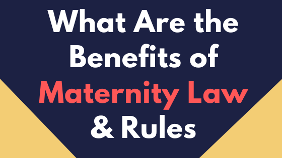 What Are the Benefits of Maternity Law and Rules